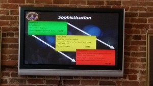 FBI presentation about insider threat sophistication levels